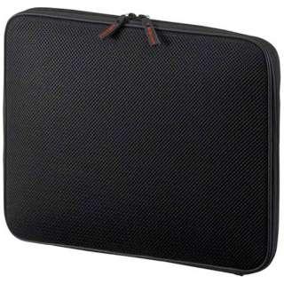 ノートPC対応[14インチタブレット] 低反発3Dメッシュケース ブラック IN-SG14BK
