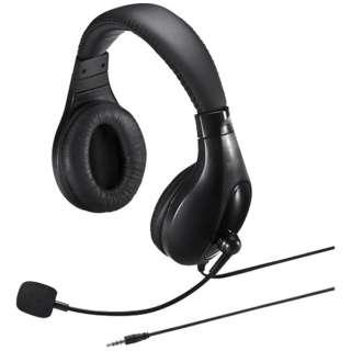 MM-HS401BK ヘッドセット ブラック [φ3.5mmミニプラグ /両耳 /ヘッドバンドタイプ]
