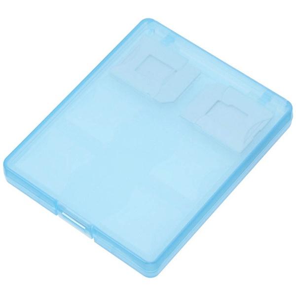 エツミ バッグアクセサリー メディアホルダー SDカード12枚(または、SDカード10枚+マイクロSD2枚) ブルー E-5265