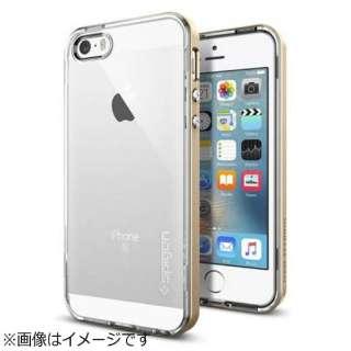 iPhone SE(第1世代)4インチ / 5s / 5用 ネオハイブリッドクリスタル シャンパンゴールド 041CS20182