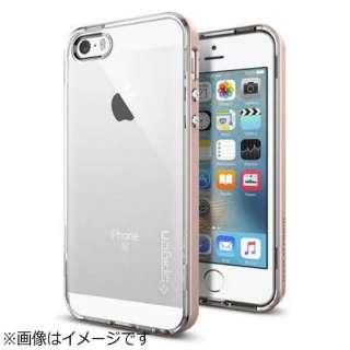 iPhone SE(第1世代)4インチ / 5s / 5用 ネオハイブリッドクリスタル ローズゴールド 041CS20183