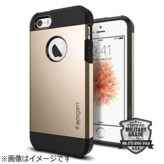 iPhone SE(第1世代)4インチ / 5s / 5用 タフアーマー シャンパンゴールド 041CS20252