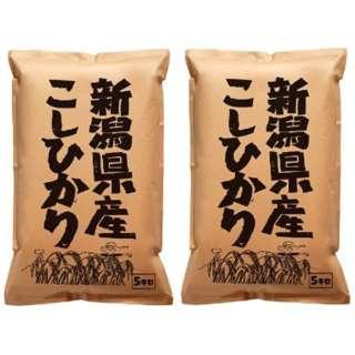 新潟県産こしひかり 10kg(5kg×2袋)【お米】