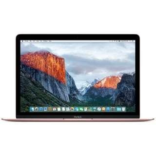 MacBook 12インチ[2016年/SSD 256GB/メモリ 8GB/1.1GHzデュアルコアCore m3]ローズゴールド MMGL2J/A