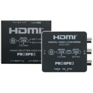 HDMI分配器デジタルビデオコンバーターセットパッケージDVC791