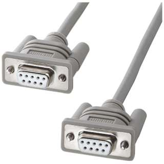 RS-232Cケーブル クロス (D-sub9pinメス インチネジ(4-40)- D-sub9pinメス インチネジ(4-40)・1.5m・ライトグレー) KRS-403XF1K2