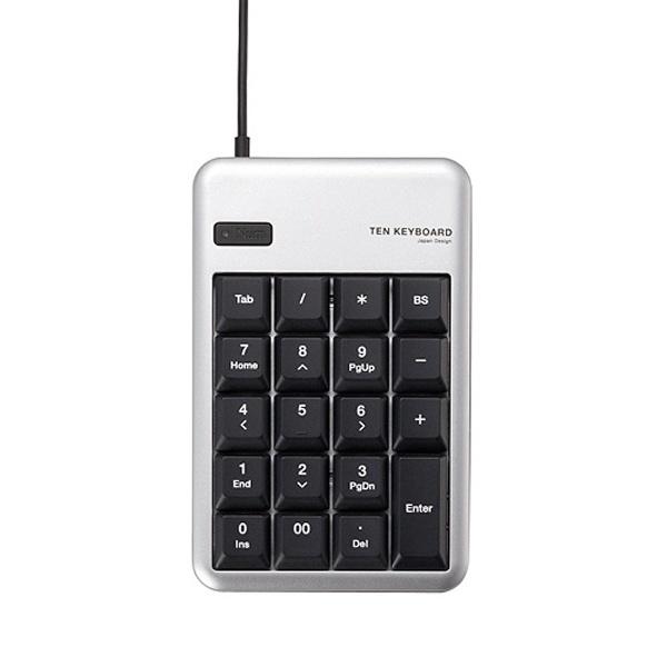 エレコム TK-TCM012 テンキー シルバー USB 有線 ELECOM