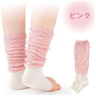 眠+(ミンプラス) おやすみ用レッグウォーマー シルクタイプ ピンク
