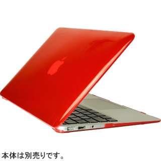 ハードケース[11インチMacBook Air用](クリアレッド) OWL-CVMBA11-CRD