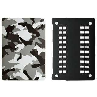 ハードケース[13インチMacBook Air用]迷彩柄(グレー) OWL-CVMBA13CA-GY
