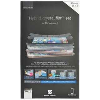 iPhone 6s/6用 ハイブリッドクリスタルフィルム PYC-04