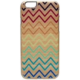 iPhone 6s/6用 天然木ケース Rainbow Wave ブラックフレーム Man&Wood I6975iP6S