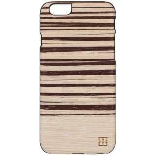 iPhone 6s/6用 天然木ケース Pink Zebrano ブラックフレーム Man&Wood I6966iP6S