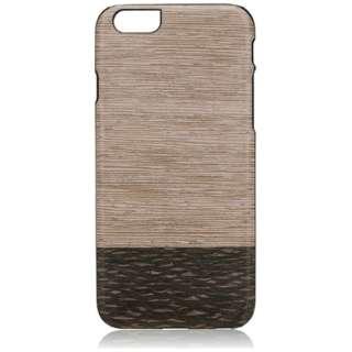 iPhone 6s/6用 天然木ケース Lattis ブラックフレーム Man&Wood I6964iP6S