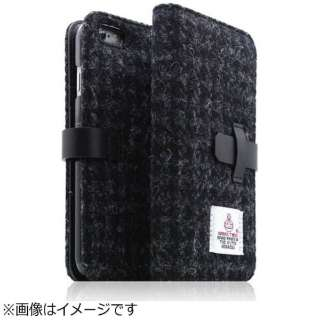 iPhone 6s Plus/6 Plus用 手帳型 Harris Tweed Diary ブラック SLG Design SD7293i6SP