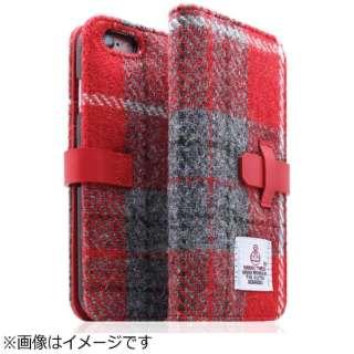 iPhone 6s Plus/6 Plus用 手帳型 Harris Tweed Diary レッドxグレー SLG Design SD7294i6SP