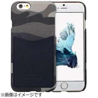 iPhone 6s/6用 レザーケース Leather Pocket Bar カモ ネイビー HANSMARE HAN7324i6S