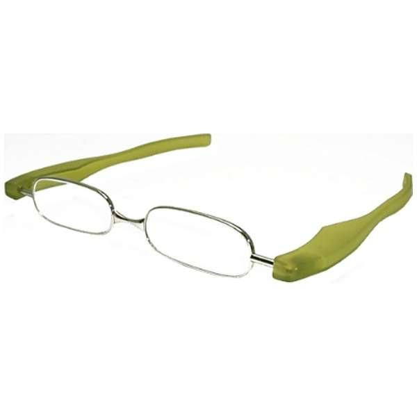 折りたたみ老眼鏡 ポッドリーダー スマート(グリーン/+3.00)