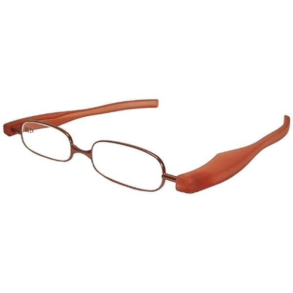 折りたたみ老眼鏡 ポッドリーダー スマート(レッド/+2.50)