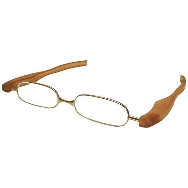 折りたたみ老眼鏡 ポッドリーダー スマート(ブラウン/+2.00)