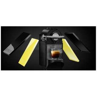 C60-BY カプセル式コーヒーメーカー Pixie Clips (ピクシークリップ) ブラック&レモンイエロー