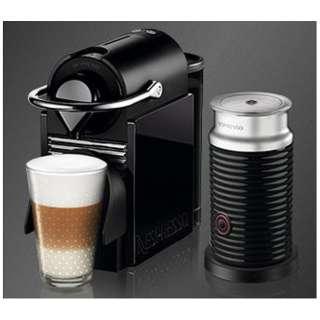 C60BY-A3B カプセル式コーヒーメーカー Pixie Clips (ピクシークリップ) ブラック&レモンイエロー