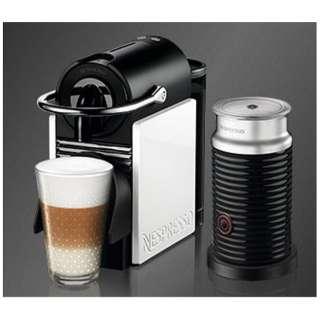 D60WR-A3B カプセル式コーヒーメーカー Pixie Clips (ピクシークリップ) ホワイト&コーラルレッド