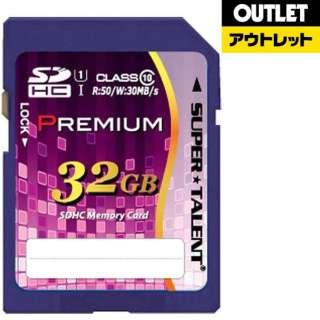 【アウトレット品】 SDHCカード SUPERTALENT ST32SU1P [32GB /Class10] 【数量限定品】