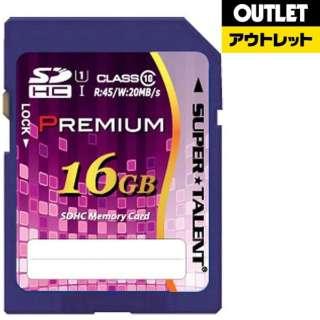 【アウトレット品】 SDHCカード SUPERTALENT ST16SU1P [16GB /Class10] 【数量限定品】