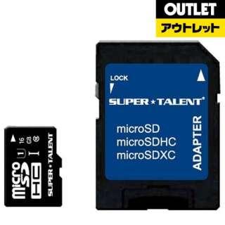 【アウトレット品】 microSDHCカード SUPERTALENT ST16MSU1P [16GB /Class10] 【数量限定品】