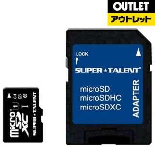 【アウトレット品】 microSDXCカード SUPERTALENT ST64MSU1P [64GB /Class10] 【数量限定品】