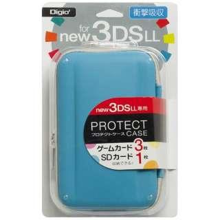 ニンテンドーNew3DS LL用 プロテクトケース ブルー【New3DS LL】