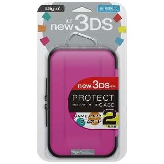 ニンテンドーNew3DS用 プロテクトケース ピンク【New3DS】