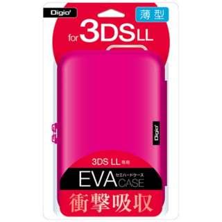 ニンテンドー3DS LL用 セミハードケース ピンク【3DS LL】