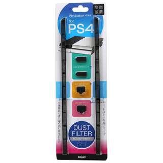 PlayStation 4用 ホコリガードセット ブラック【PS4】
