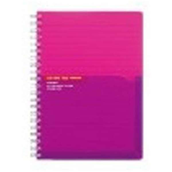 [ノート] カラータグ ツインリングノート A罫 ピンク (B6・普通横罫・90枚) CTス-C40P