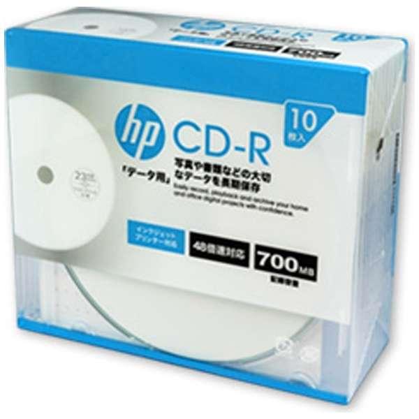 CDR80CHPW10A データ用CD-R [10枚 /700MB /インクジェットプリンター対応]