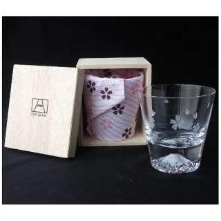 富士山グラス ロックグラス 桜切子 TG16-015-R