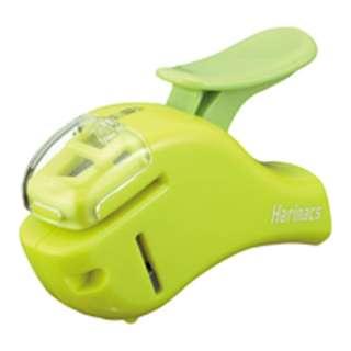 [ステープラー] 針なしステープラー ハリナックス (コンパクトアルファ) 緑 SLN-MSH305G