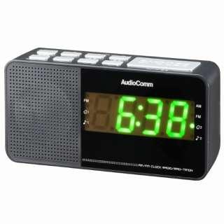 RAD-T210N ホームラジオ AudioComm ブラック [AM/FM /ワイドFM対応]