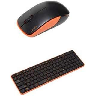 MK48367GBO ワイヤレスキーボード・マウス ブラック・オレンジ [USB /ワイヤレス]