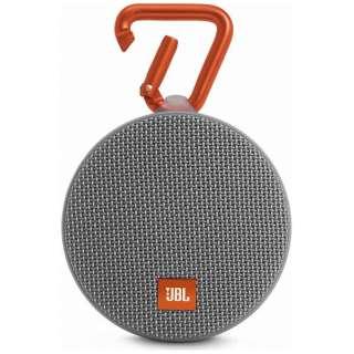 JBL CLIP 2 GRAY ブルートゥース スピーカー グレー [Bluetooth対応 /防水]