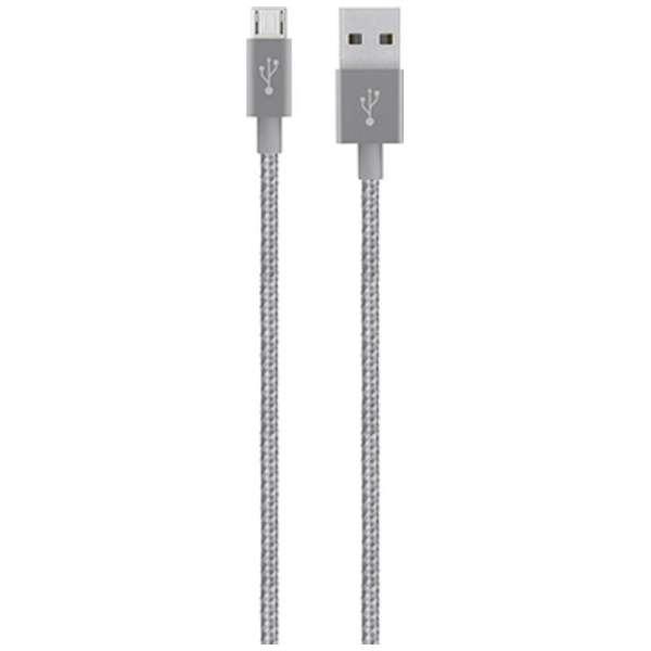 [micro USB]USBケーブル 充電・転送 (1.2m・グレイ)F2CU021bt04-GRY [1.2m]