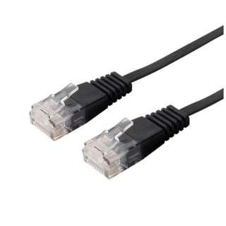 TWU-605A/BK LANケーブル ブラック [5m /カテゴリー6A /フラット]