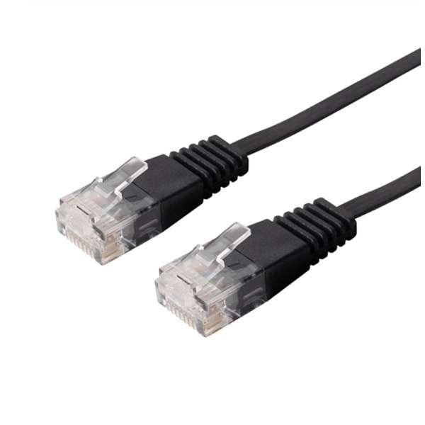 TWU-610A/BK LANケーブル ブラック [10m /カテゴリー6A /フラット]