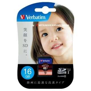 SDHCカード Verbatim(バーベイタム) SDHC16GJVB3 [16GB /Class10]