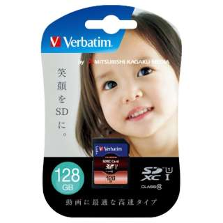 SDXCカード Verbatim(バーベイタム) SDXC128GJVB3 [128GB /Class10]