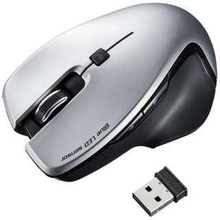 MA-SW1S マウス シルバー [BlueLED /5ボタン /USB /無線(ワイヤレス)]