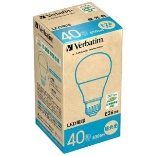 LDA5D-G/V5 LED電球 バーベイタム(Verbatim) [E26 /昼光色 /1個 /40W相当 /一般電球形 /広配光タイプ]