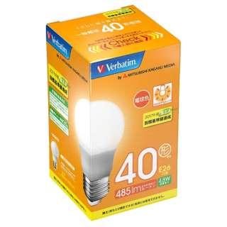 LDA5L-G/VP5 LED電球 バーベイタム(Verbatim) [E26 /電球色 /1個 /40W相当 /一般電球形 /広配光タイプ]